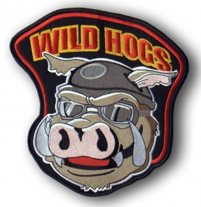 Sample of embroidered patch - Wild Hogs