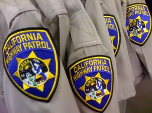embroidered patch on california police retreat