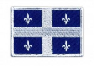 quebec flag patch